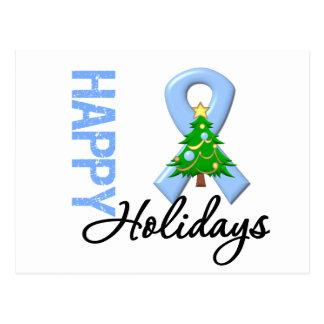 Happy Holidays Prostate Cancer Awareness Postcard