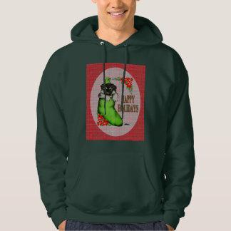 Happy Holidays Puppy Hooded Sweatshirt