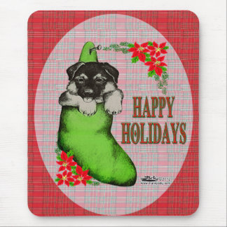 Happy Holidays Puppy Mouse Pad