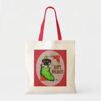 Happy Holidays Puppy Tote Bag