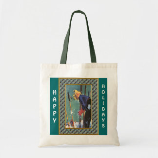Happy Holidays  Ready to ski Tote Bag