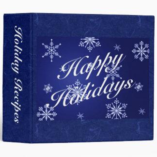 Happy Holidays Recipe Binder - Blue
