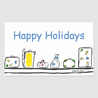 Happy Holidays Rectangular Sticker