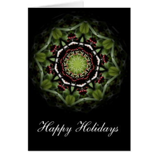 Happy Holidays Red Berries with Lomography Greeting Card