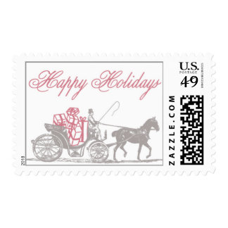 Happy Holidays_Red by Ceci New York Postage Stamp