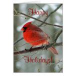 Happy Holidays (Red Cardinal) Card