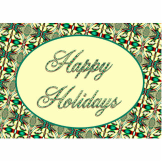 happy holidays red green statuette