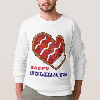 Happy Holidays Red Mitten Ugly Christmas Sweater
