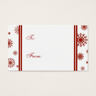 Happy Holidays Red Snowflakes Gift Tags