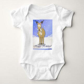 Happy Holidays Reindeer Baby Bodysuit