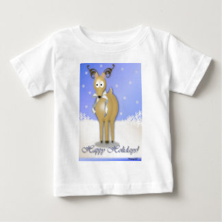 Happy Holidays Reindeer Baby T-Shirt