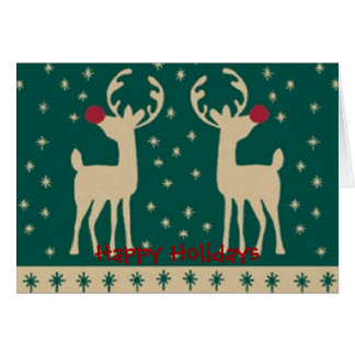 Happy Holidays Reindeer. Cards