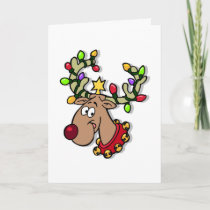Happy Holidays Reindeer Christmas Lights Holidays Holiday Card