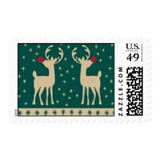 Happy Holidays Reindeer Stamps