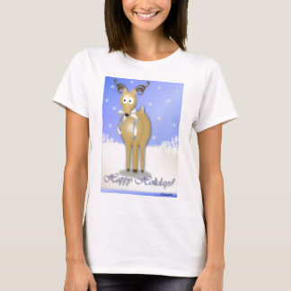 Happy Holidays Reindeer T-Shirt