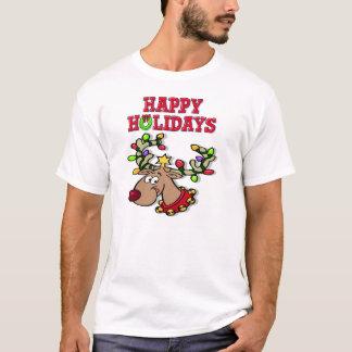 Happy Holidays Reindeer T-Shirt