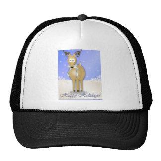 Happy Holidays Reindeer Trucker Hat