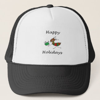 Happy Holidays Reindeer Trucker Hat