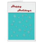 happy holidays retro card