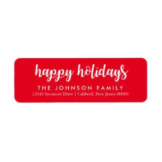 Happy Holidays Return Address Labels \ CHRISTMAS
