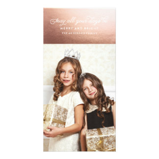 HAPPY HOLIDAYS ROSE GOLD Christmas Card