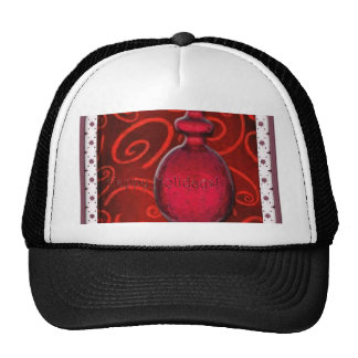 Happy Holidays / Ruby Red Glass Christmas Tree Orn Trucker Hat