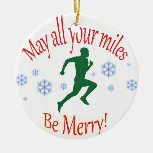 Happy Holidays Runners! Ornament