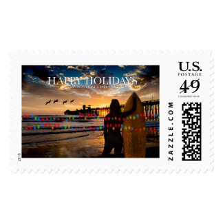 Happy Holidays - San Diego California Postage