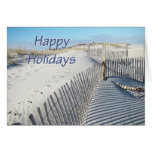 Happy Holidays Sand Dunes and Fences Greeting Cards
