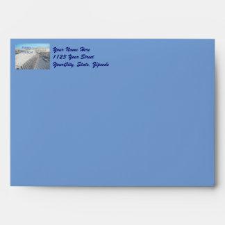 Happy Holidays Sand Dunes and Fences Envelopes
