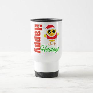 Happy Holidays Santa Chick 15 Oz Stainless Steel Travel Mug