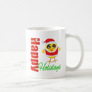 Happy Holidays Santa Chick Classic White Coffee Mug