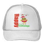 Happy Holidays Santa Chick v2 Mesh Hats