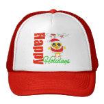 Happy Holidays Santa Chick v2 Trucker Hats