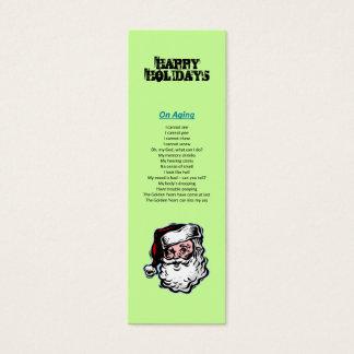 Happy Holidays Santa Christmas Bookmark Mini Business Card