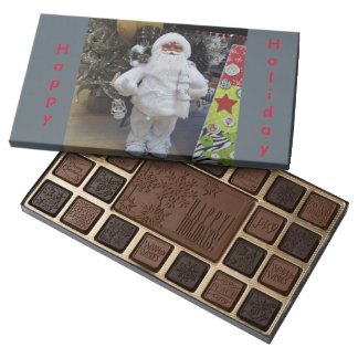 Happy Holidays Santa Christmas Candy 45 Piece Box Of Chocolates