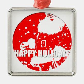 Happy Holidays - Santa Claus - Christmas Ornament