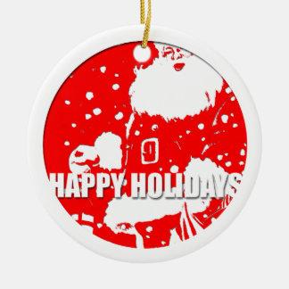 Happy Holidays - Santa Claus - Christmas Tree Ornaments
