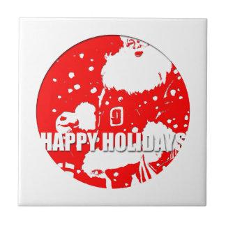 Happy Holidays - Santa Claus - Ceramic Tile
