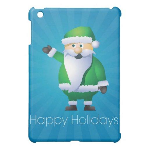 Happy Holidays Santa iPad Mini Cases