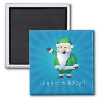 Happy Holidays Santa Fridge Magnet