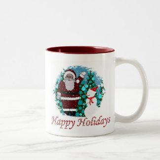 Happy Holidays Santa Mug