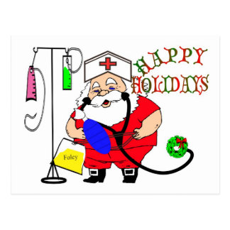 Nurses Christmas Postcards | Zazzle