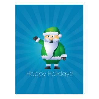 Happy Holidays Santa Postcard