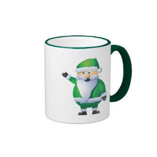Happy Holidays Santa Ringer Mug