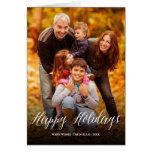 Happy Holidays Script Modern Greetings Photo Card