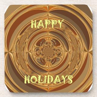 Happy Holidays Seamless Hakuna Matata Seasonal Gif Beverage Coaster