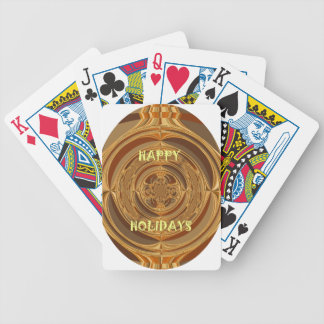 Happy Holidays Seamless Hakuna Matata Seasonal Gif Bicycle Playing Cards