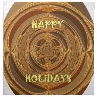 Happy Holidays Seamless Hakuna Matata Seasonal Gif Cloth Napkin