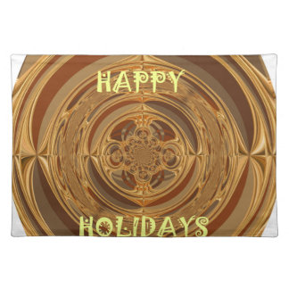Happy Holidays Seamless Hakuna Matata Seasonal Gif Cloth Placemat